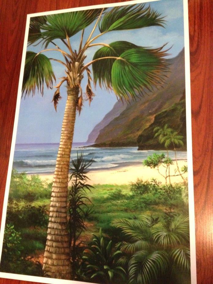 Rudolf Gonzalez, - Pacific Palm, - print, poster, size 21 x 33, large, unframe