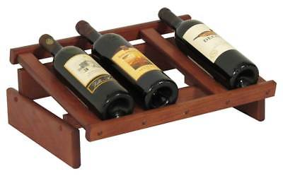4-Bottles Wine Display in Mahogany Finish [ID 3175931]