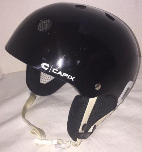Capix O/S SHORTY SNOW HELMET Black Gloss Small 50-54cm 495 Grams Multi-Use