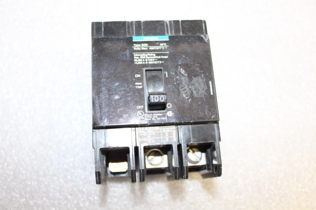 Siemens Circuit Breaker 100 amp  BQD3100    Siemens BQD3100