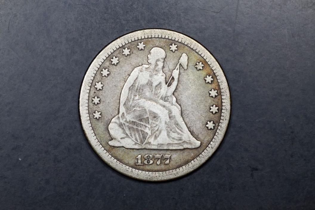 1877-CC Seated 25c VF Very Fine #017-1255