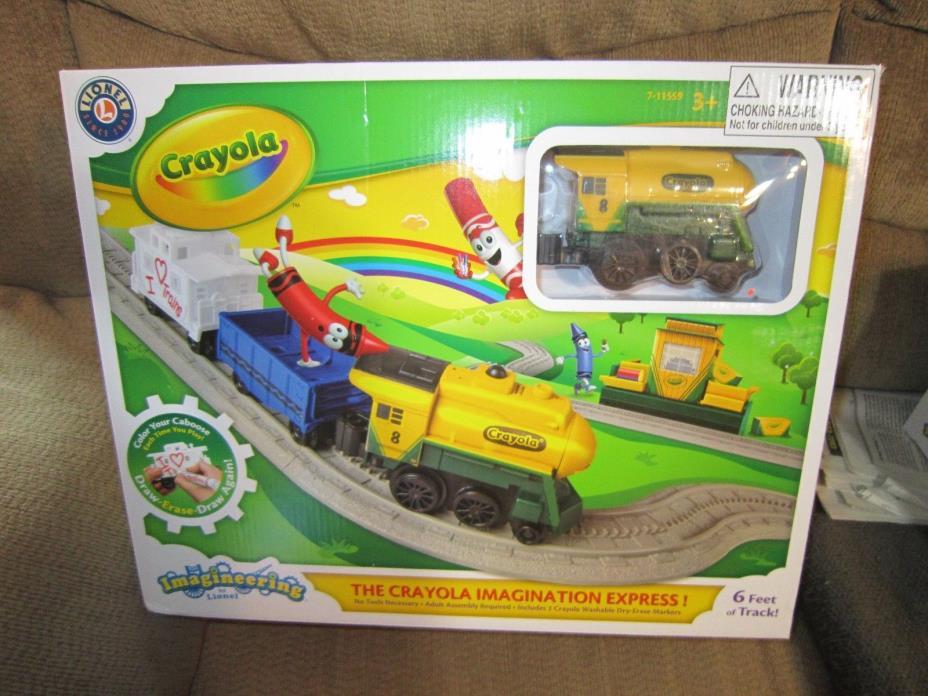 LIONEL CRAYOLA IMAGINATION EXPRESS IMAGINEERING TRAIN SET 7-11559