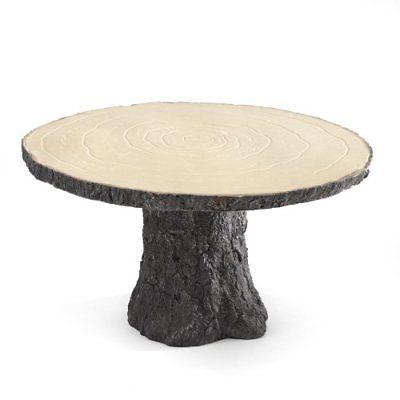 Hortense B. Hewitt Rustic Log Cake Stand Wedding Accessories Other Supplies Home