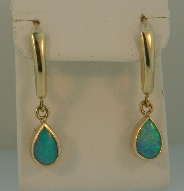 Kostbar 14K Opal Earrings