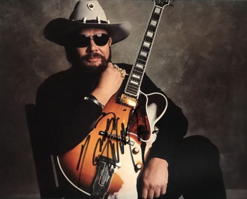 HANK WILLIAMS JR HAND SIGNED 8x10 PHOTO AUTOGRAPHED COUNTRY LEGEND RARE!!!
