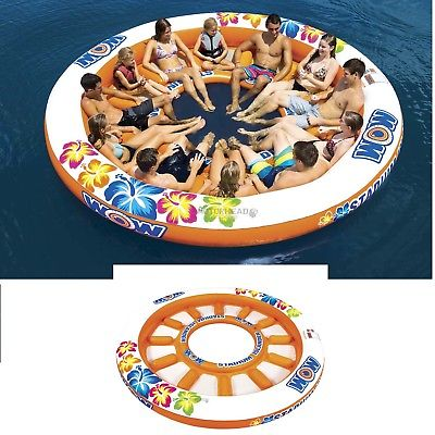 Wow 14-2090 Stadium Islander 1-12 Person Tube Inflatable Water Floating Pool Toy