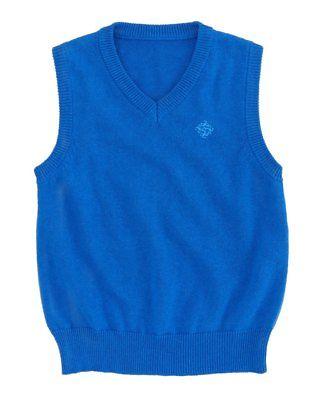 ANDY & EVAN Boutique Designer Boys Blue Sweater Vest, Size 6 Toddler, NWT $36
