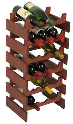 18-Bottles Wine Rack in Mahogany Finish [ID 3175891]