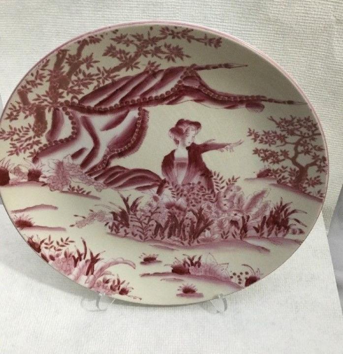 Vintage Oriental Accents Decorative GEISHA / LANDSCAPE Collector Plate Dish 10