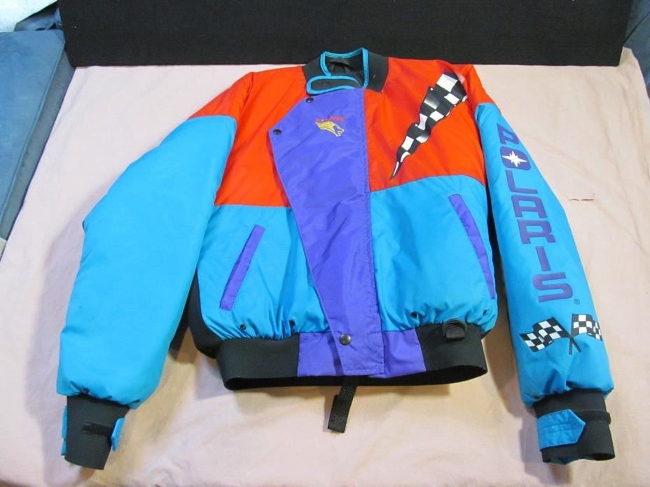 1991-Vintage Polaris-Sterns Snowmobile Floatation Jacket SZ Adult Medium EUC