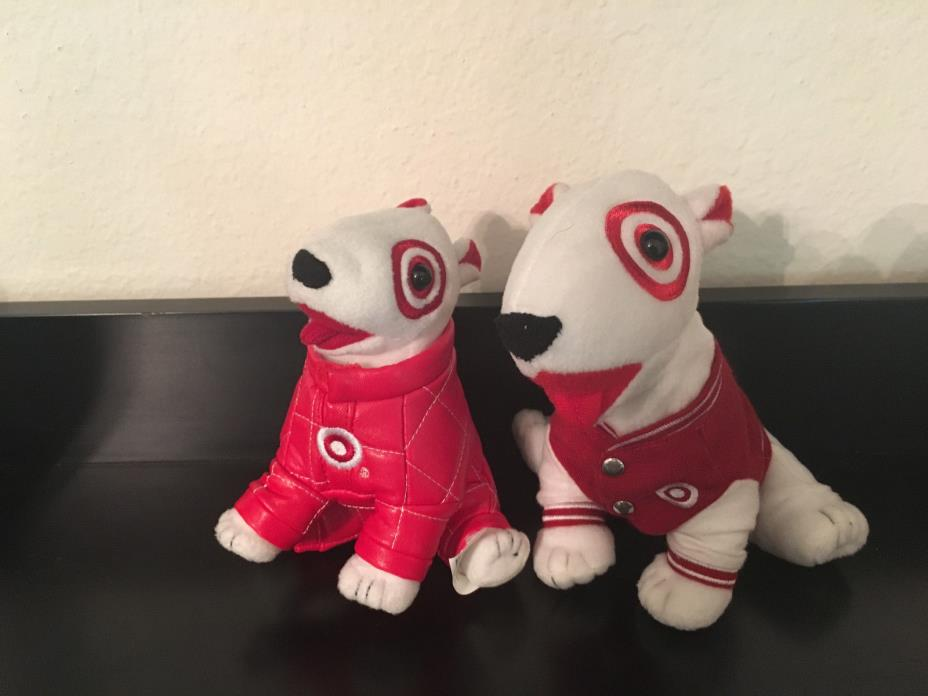 TARGET BULLSEYE Dog Red Varsity Jacket 2008 Careers + Sorenson #41 Nascar Dog