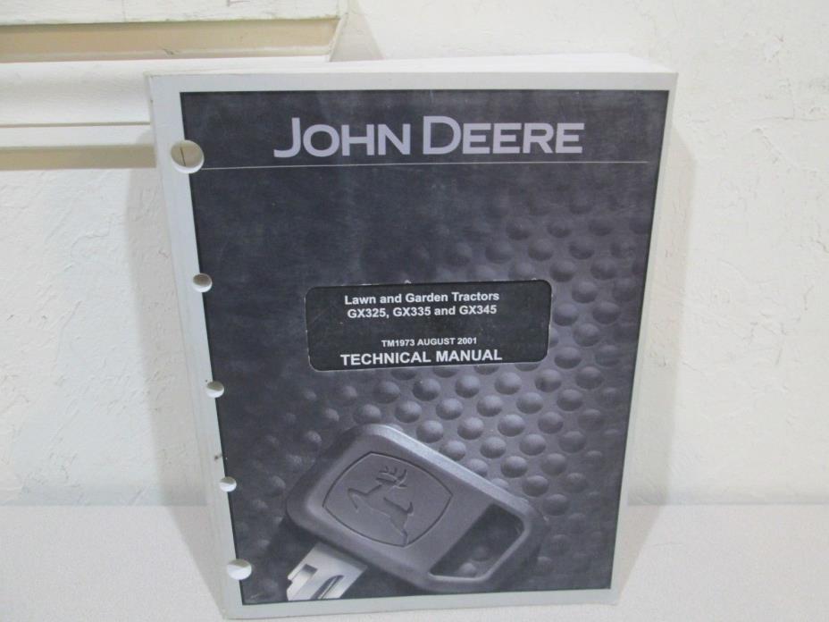John Deere GX325,GX335 and GX345 Lawn & Garden Tractors Technical Manual  TM1973