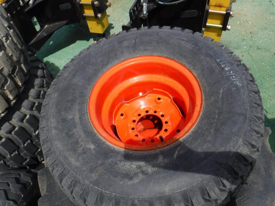 ABR8779 Kubota Single Weighted Tire and Rim 33x12.5-15 ST R3