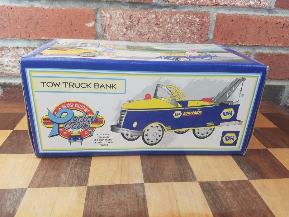 NAPA 1940 GENDRON PEDAL CAR TOW TRUCK BANK DIECAST 1/6 SCALE