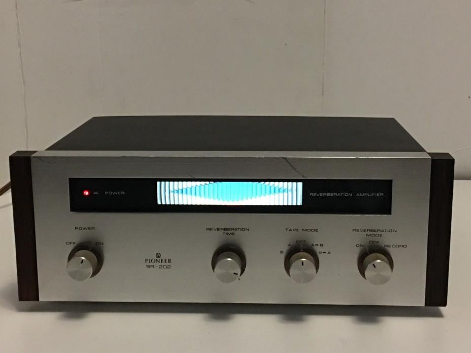 Vintage Pioneer SR-202 Stereo Spring Reverb Reverberation Amplifier