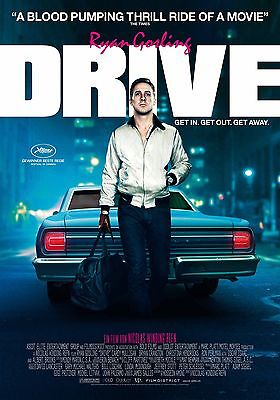 Drive movie poster:  Ryan Gosling poster : 11 x 17 inches : Swiss style