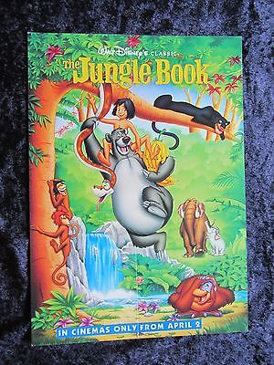 Walt Disney's THE JUNGLE BOOK british fold out synopsis card