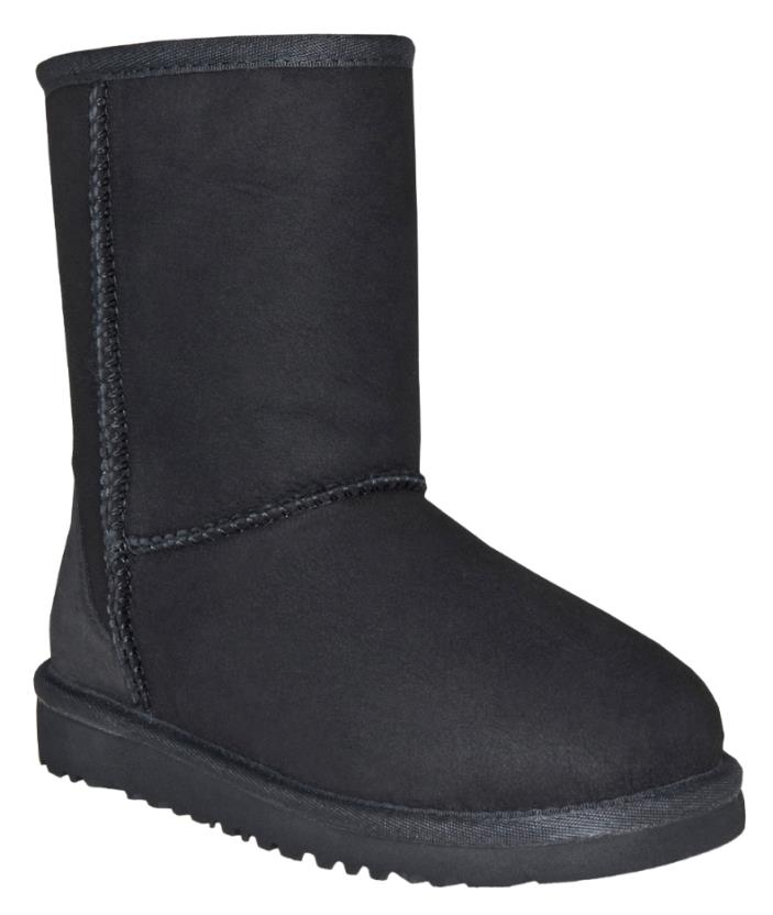 NWT UGG Boys Black Classic Boot - Toddler Size 9 Genuine Dyed Sheepskin New