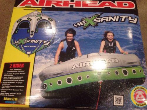 Airhead Hexsanity 2 Rider Inflatable Towable. Brand New