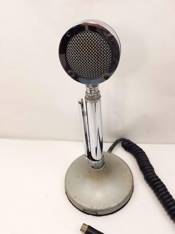 Astatic Lollipop Microphone TUG8 Stand and Cord Felt Bottom Vintage Ham CB Radio