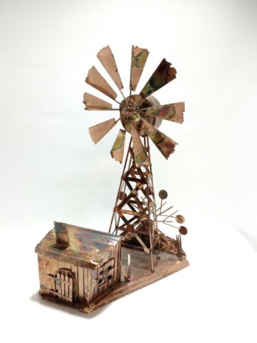 Copper Windmill and Midwest Farm Musical Sculpture