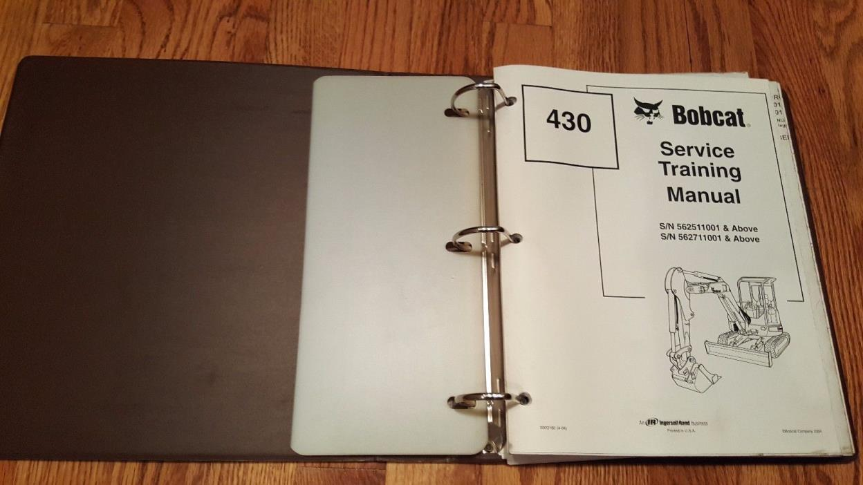 Bobcat 430 Service Manual w/ Binder
