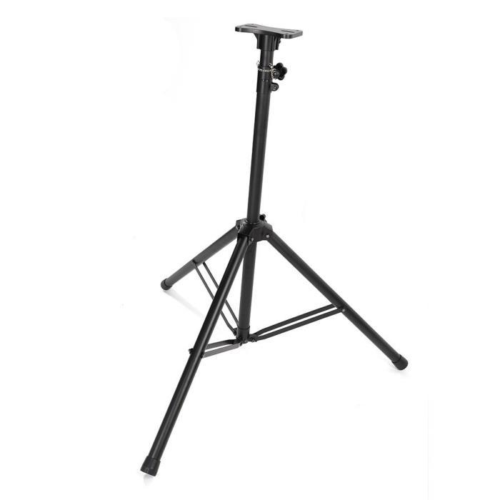 48''-88'' Adjustable Height Tripod Pro Speaker Stands Black Steel