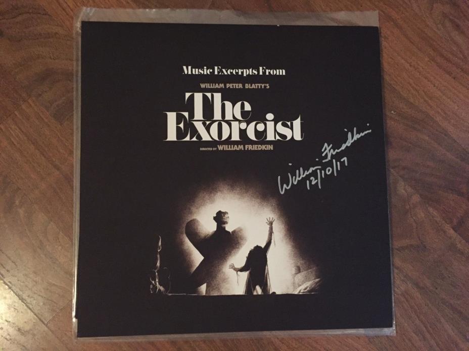 The Exorcist Soundtrack Black Smoke Vinyl Signed by William Friedkin New Waxwork