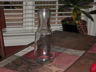 Clear Glass Milk Bottle Pitcher  Monogram