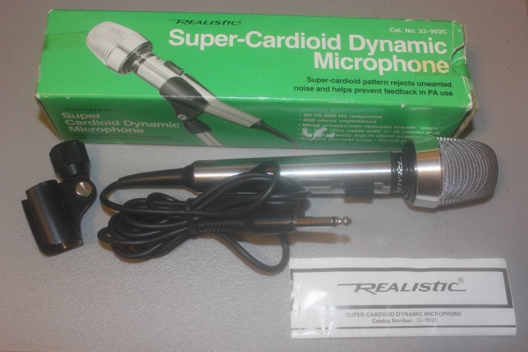 Radio Shack Realistic 33-992 Super Cardioid Dynamic Microphone