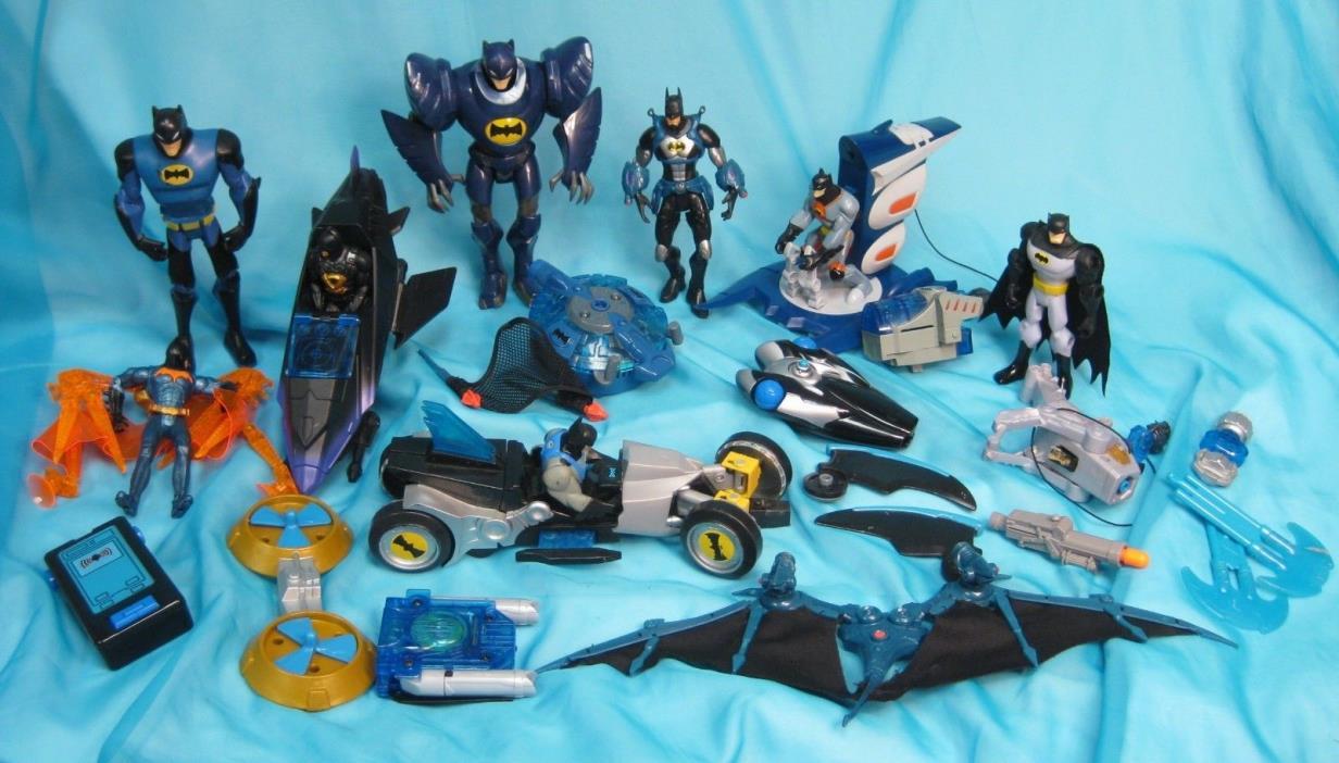 Lot of DC Comics BATMAN Action Figures Vehicles & Accessories