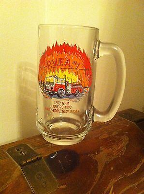 Paulsboro New Jersey Volunteer Fireman's Association July 23 1983 Beer Mug Glass