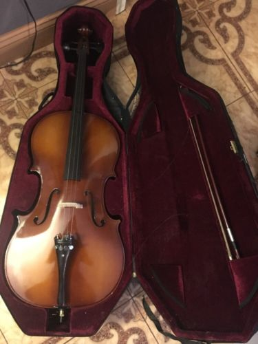 Chello With Bow And Bag Good Condition
