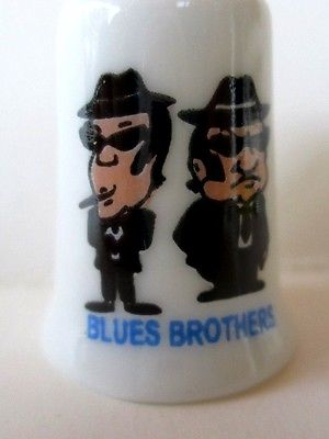 Blues Brothers Porcelain Thimble