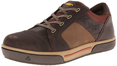 Men's Keen 1011353 Destin Low Steel Toe Lace Up Brown Safety Work Shoes
