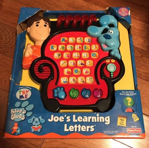 NEW Blues Clues Electronic Alphabet Joe's Learning Game Notebook Chair 2001