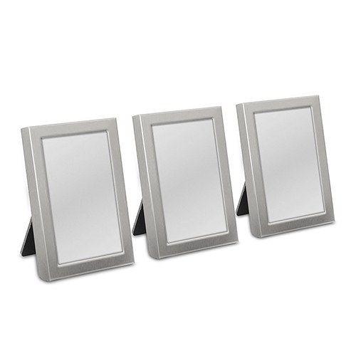 Silver Easel Back Mini Photo Frames Wedding Place Card Holders - 3/pk - Q15476