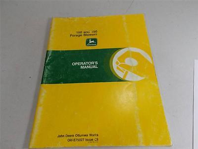 JOHN DEERE OPERATORS MANUAL 100 150 FORAGE BLOWERS