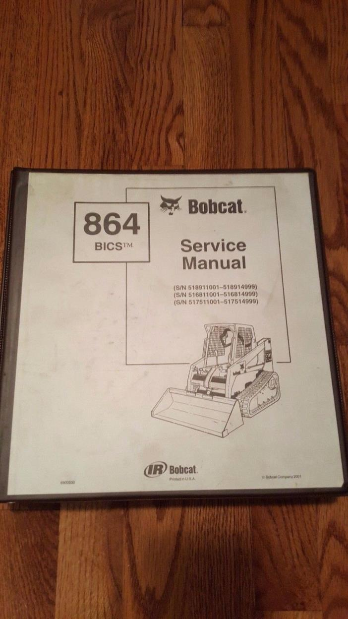 Bobcat 864 BICS Service Manual w/ Binder