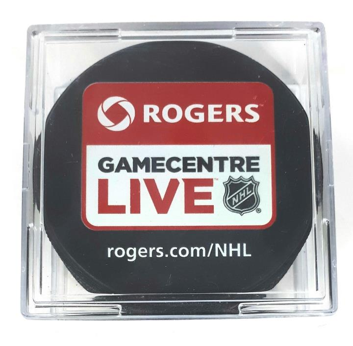 Rogers Gamecentre Live NHL Game Centre Hockey Puck New in Case