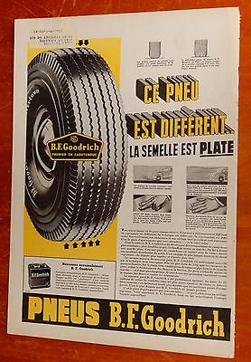 FRENCH 1947 B.F. GOODRICH TIRES CANADIAN AD + VINTAGE ROYAL BANK AD ON BACK