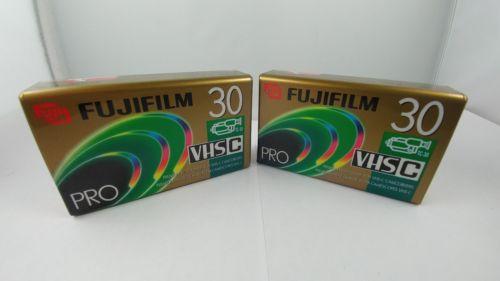 Set of 2 FUJIFILM Pro TC-30 Premium High Grade VHS-C Blank Camcorder Tapes
