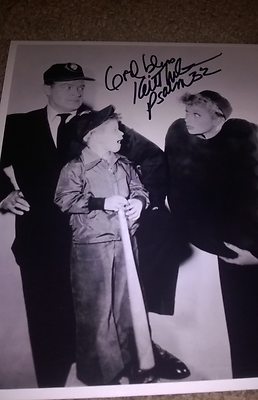 KEITH THIBODEAUX (EDDIE, I LOVE LUCY)HAND SIGNED 8X10 PHOTO W/BOB HOPE AND LUCY