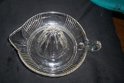 Vintage Glass Reamer Juicer Squeezer w Spout C Handle Vintage Mid-Century