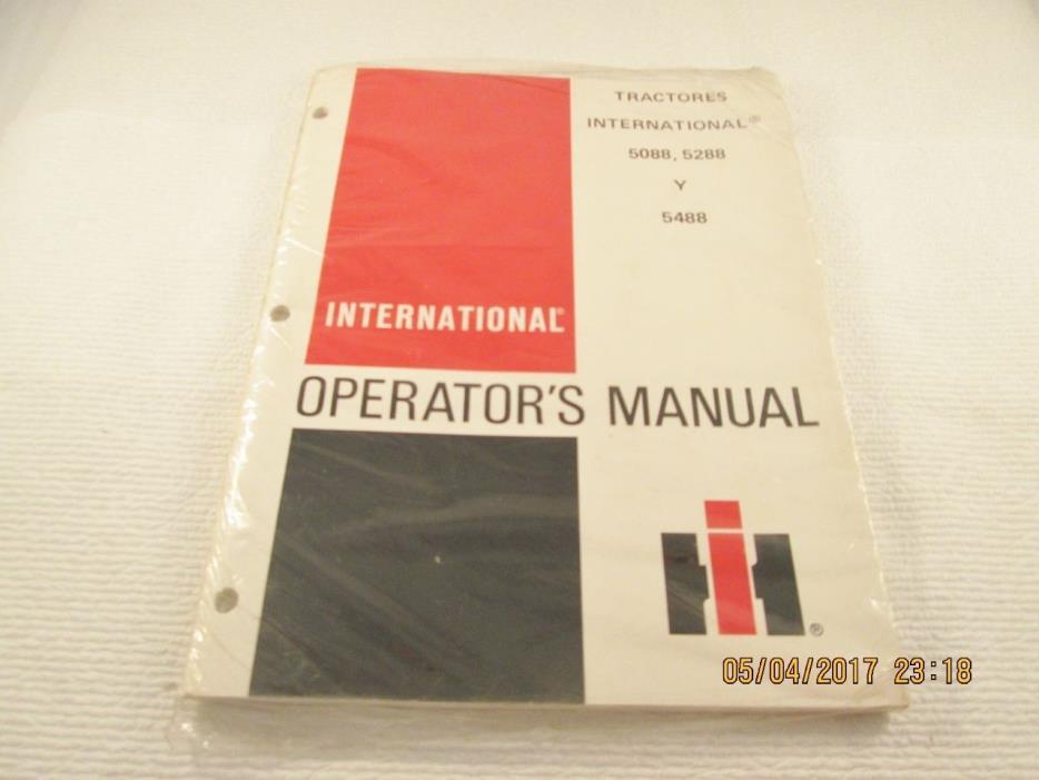 INTERNATIONAL 5088 2288 Y 5488 TRACTORES OPERATOR'S MANUAL (Spanish)