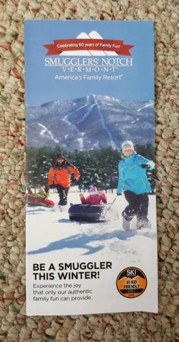Smugglers Notch 2016-2017 Trail Map SKI Okemo Mount Snow Vermont Smuggs Mountain