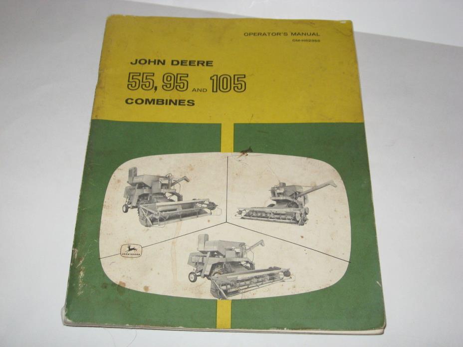 Vintage John Deere 55, 95 and 105Combines Operator's Manual