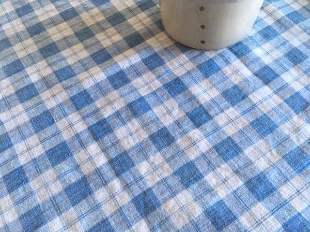 Antique French Rustic Indigo Blue Loomed Homespun Linen Fabric