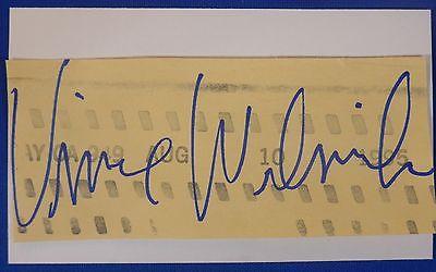 VINCE WELNICK deceased 2006 signed autograph Grateful Dead 3 by 5 index
