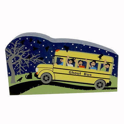 Cats Meow GHOUL BUS Pressed Wood Halloween 13634